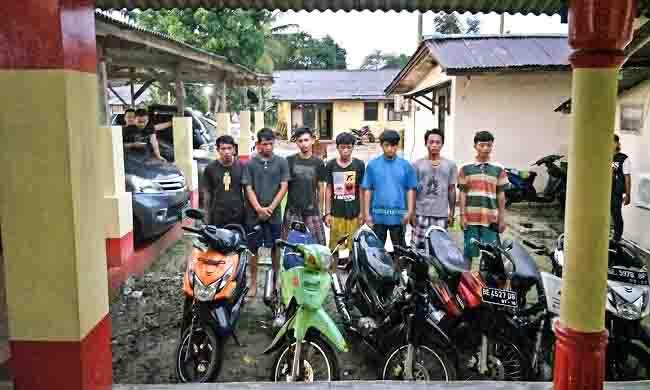 LAMPUNG POST | Polsek Natar Ringkus Jaringan Pencuri Sepeda Motor