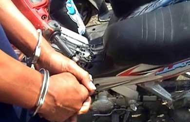 LAMPUNG POST | Polres Lambar Amankan DPO Kasus Pencurian Motor
