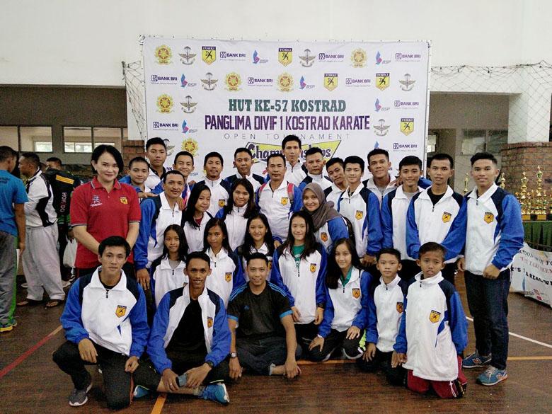 Karateka Lampung Juara Umum Ketiga di Pandivif I Open Tournamen 2018