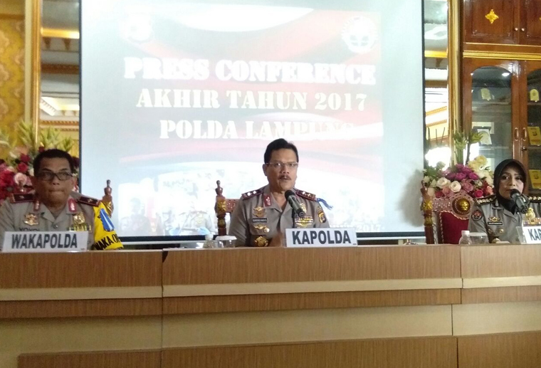 332 Polisi Polda Lampung Tersandung Hukum, 11 Dipecat Selama 2017