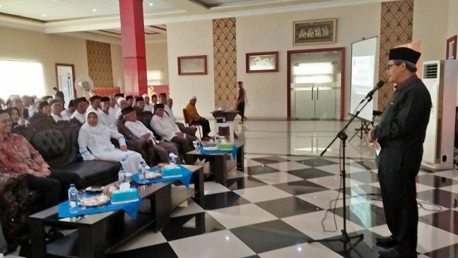 LAMPUNG POST | Jemaah Umrah Lampung Tengah Ikut Manasik