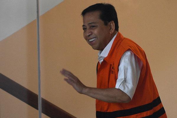 Setya Novanto Minta Bertemu Keluarga Sebelum Sidang