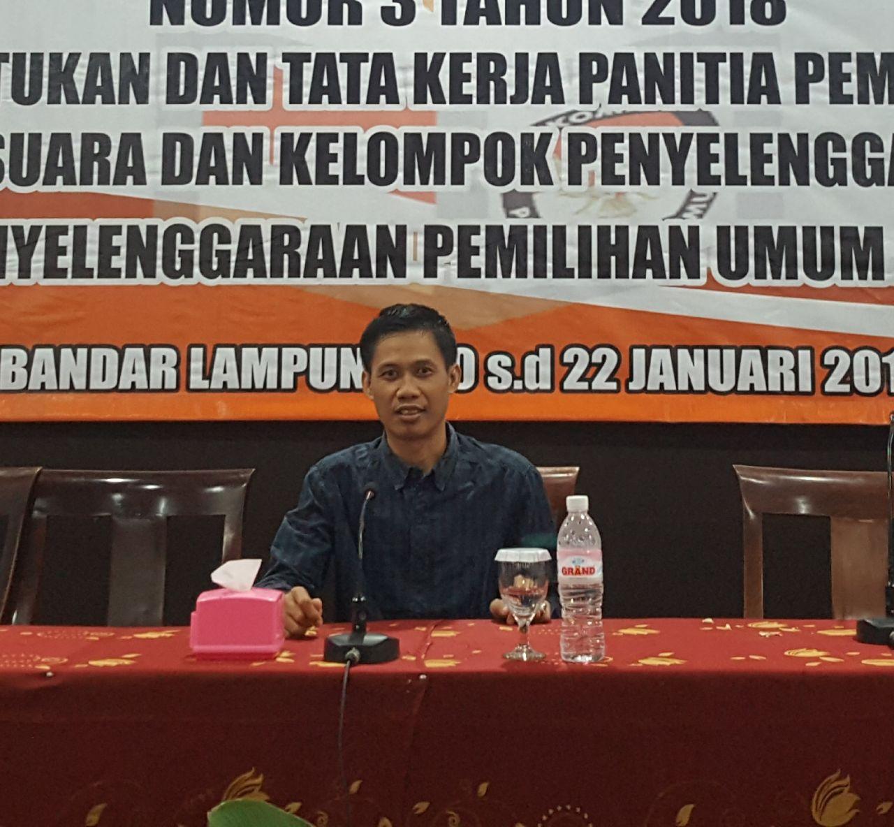 KPU Tanggamus Umumkan Jadwal Pendaftaran PPK