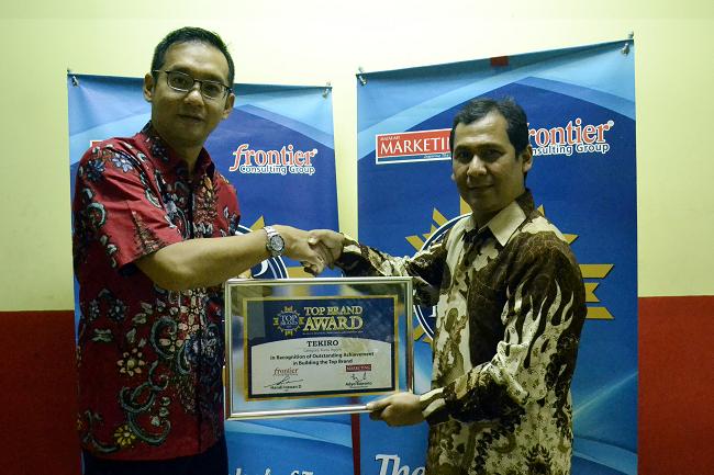 LAMPUNG POST   Tekiro Raih Penghargaan Top Brand 4 Tahun Berturut-turut