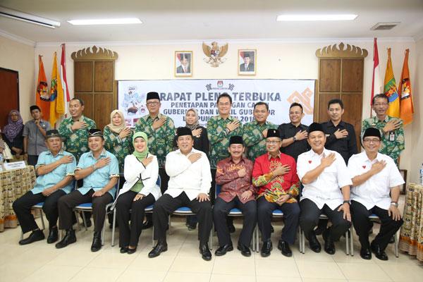 LAMPUNG POST | Empat Cagub Lampung Janji Taati Aturan Kampanye