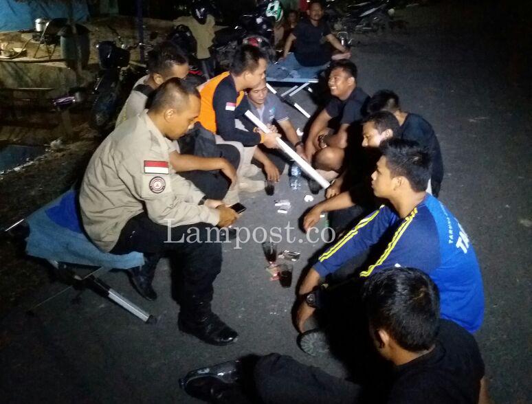Tagana Lampung Tengah Masih Siaga di Lokasi Banjir