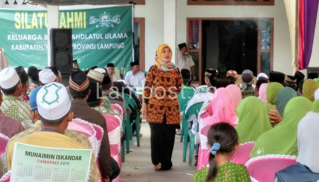 LAMPUNG POST |  Nunik Silaturahmi dengan KBNU Tulangbawang Barat