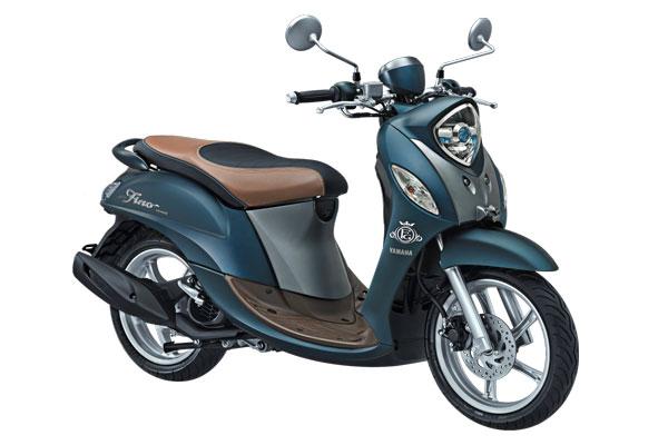 LAMPUNG POST | Yamaha New Fino 125 Blue Core Tampil dengan Ban Tapak Lebar