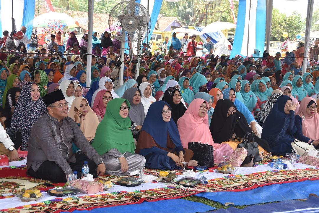 Wakil Bupati Lampung Utara Hadiri Pengajian di Tatakarya