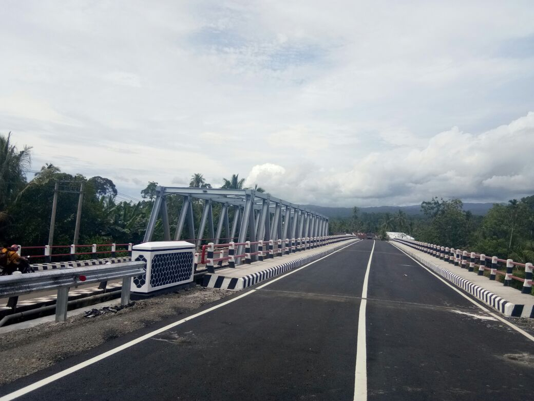 Jembatan Wai Krui, Pesisir Barat  Rampung Dikerjakan