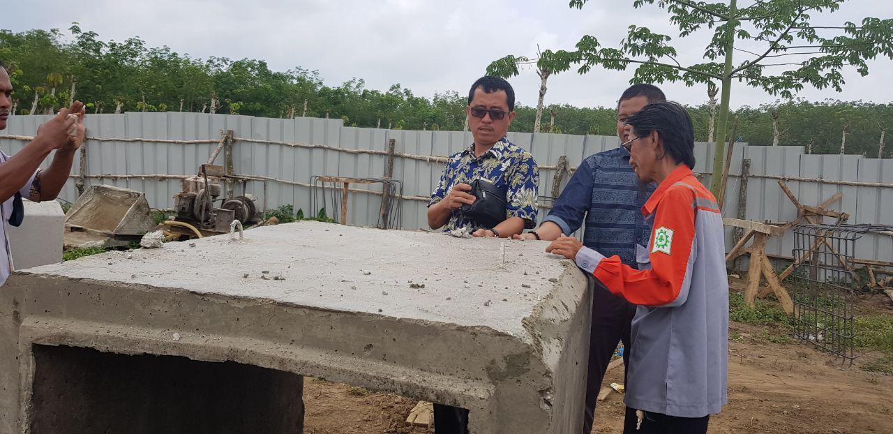 LAMPUNG POST   Beton Tak Standar, Dinas PUPR Tubaba Tegur PT. Riski Abadi Kontruksi