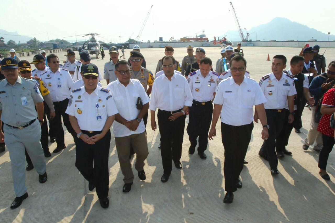 LAMPUNG POST | Menteri Perhubungan Tinjau Pelabuhan Bakauheni