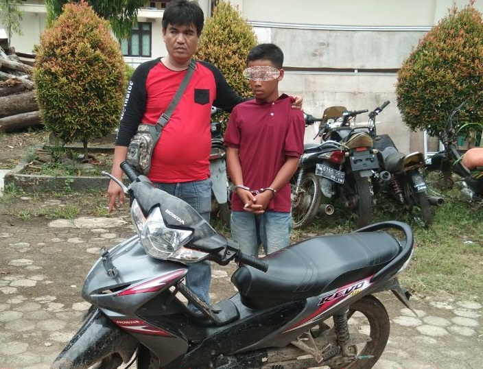 Polsek Padangratu Bekuk Remaja Anggota Komplotan Curanmor