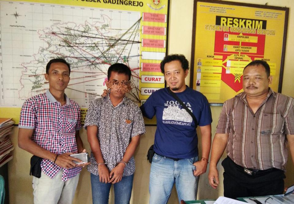 Bawa Lari Motor  Teman, Pemuda Ini Ditangkap Jajaran Polsek Gadingrejo