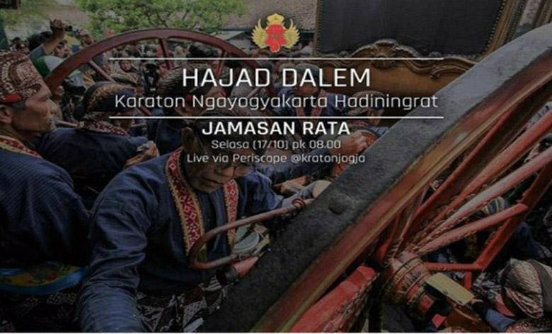LAMPUNG POST | Keraton Yogyakarta Undang Warga Saksikan Prosesi Cuci Pusaka