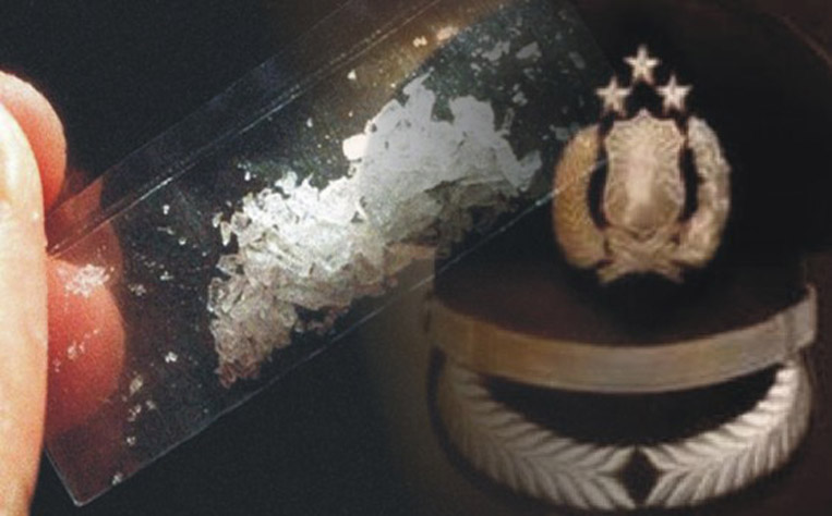 LAMPUNG POST | Nyabu di Kebun Singkong, Oknum Polisi Dituntut 15 Bulan Penjara
