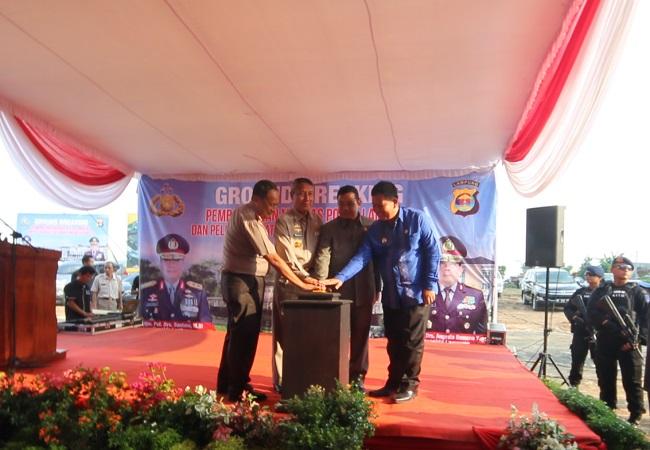Polda Lampung Peletakan Batu Pertama Markas Baru