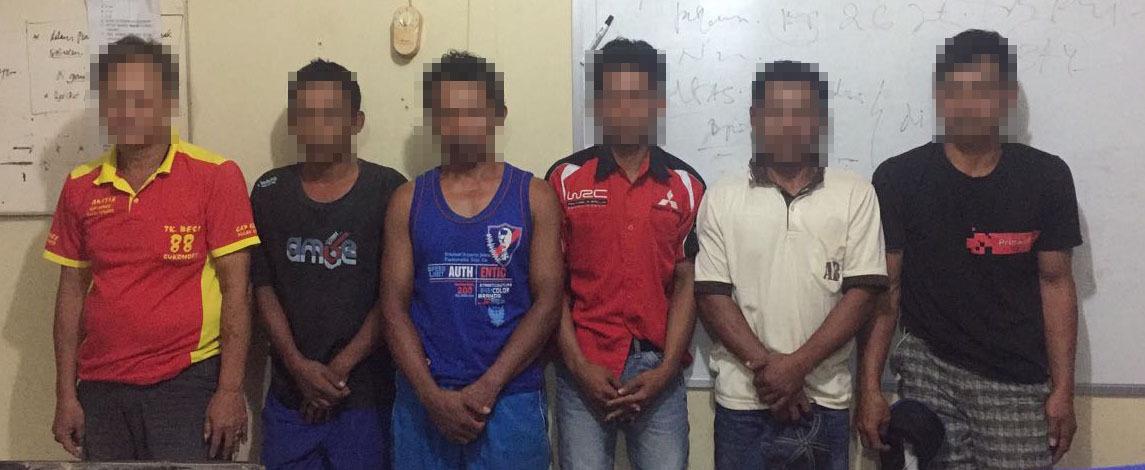 LAMPUNG POST | 6 Pelaku Perjudian di Rumah Kosong Tulangbawang Tengah Diamankan
