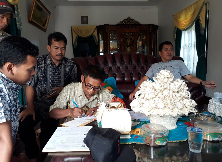 Hari Pertama Coklit, PPDP Tubaba Sambangi Anggota Dewan dan Tokoh Masyarakat