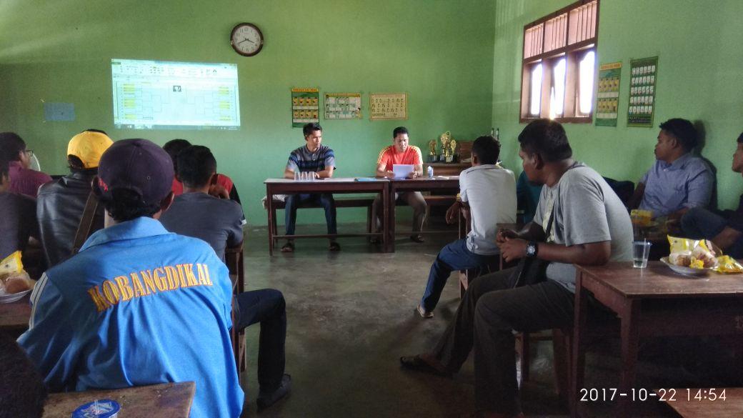 LAMPUNG POST | Karang Taruna dan Panitia Mantapkan Open Tournament Sepakbola Waygalih