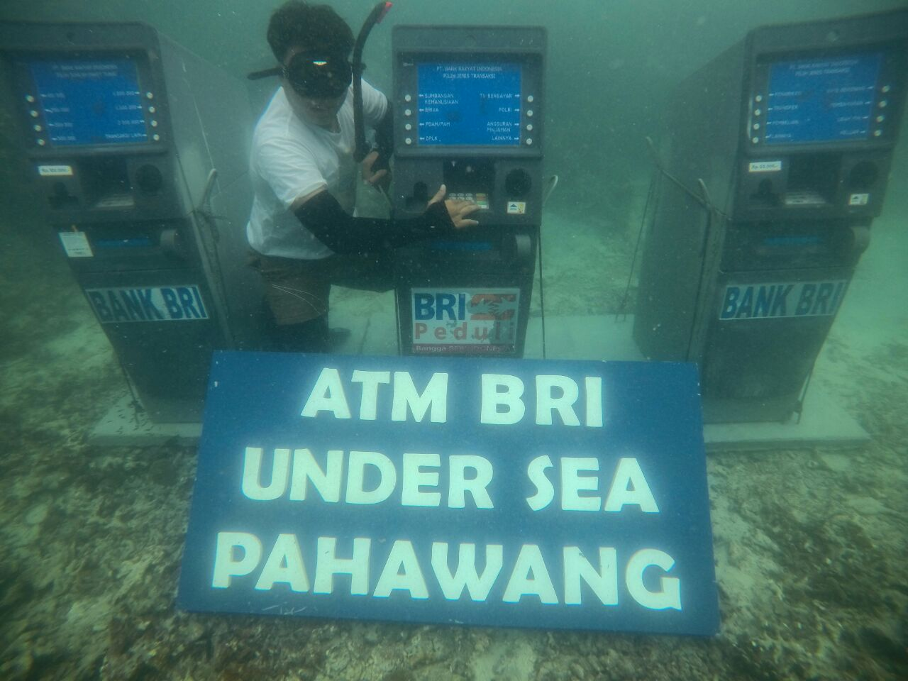 LAMPUNG POST | Punya 3 ATM Bawah Laut di Pahawang, BRI Raih Rekor Muri