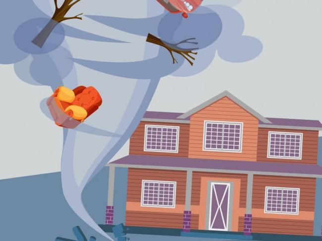 LAMPUNG POST | 107 Rumah di Indramayu Rusak Diterjang Puting Beliung