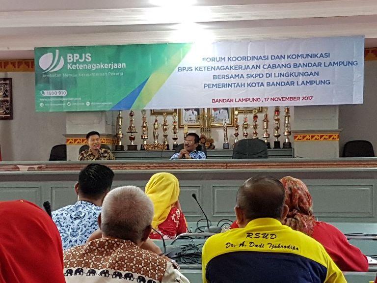 LAMPUNG POST | BPJSTK Jaring Tenaga Honorer dari 34 SKPD Pemkot