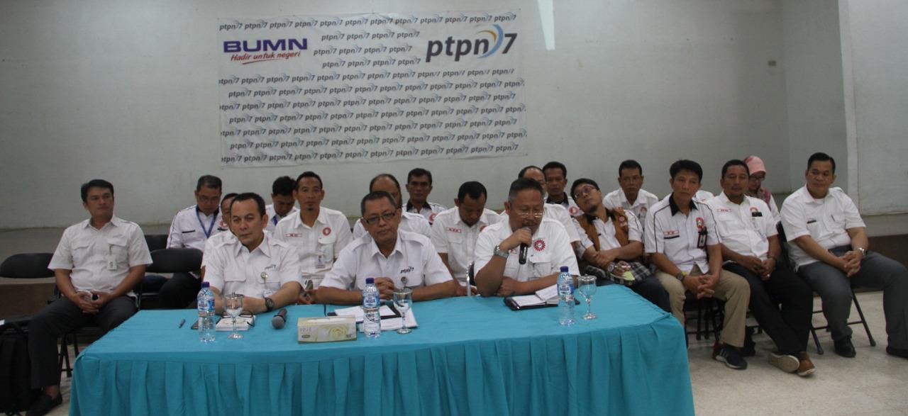 PTPN VII-SPPN VII Sosialisasi Perjanjian Kerja Sama