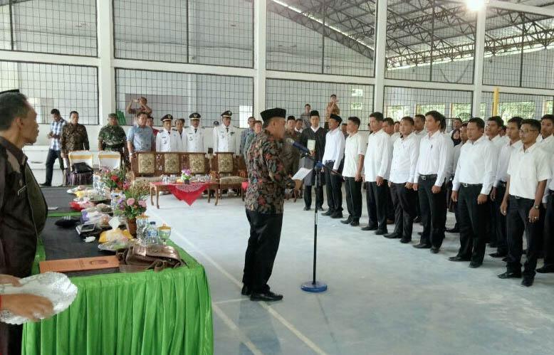 KPU Tubaba Ambil Sumpah 288 Anggota PPS