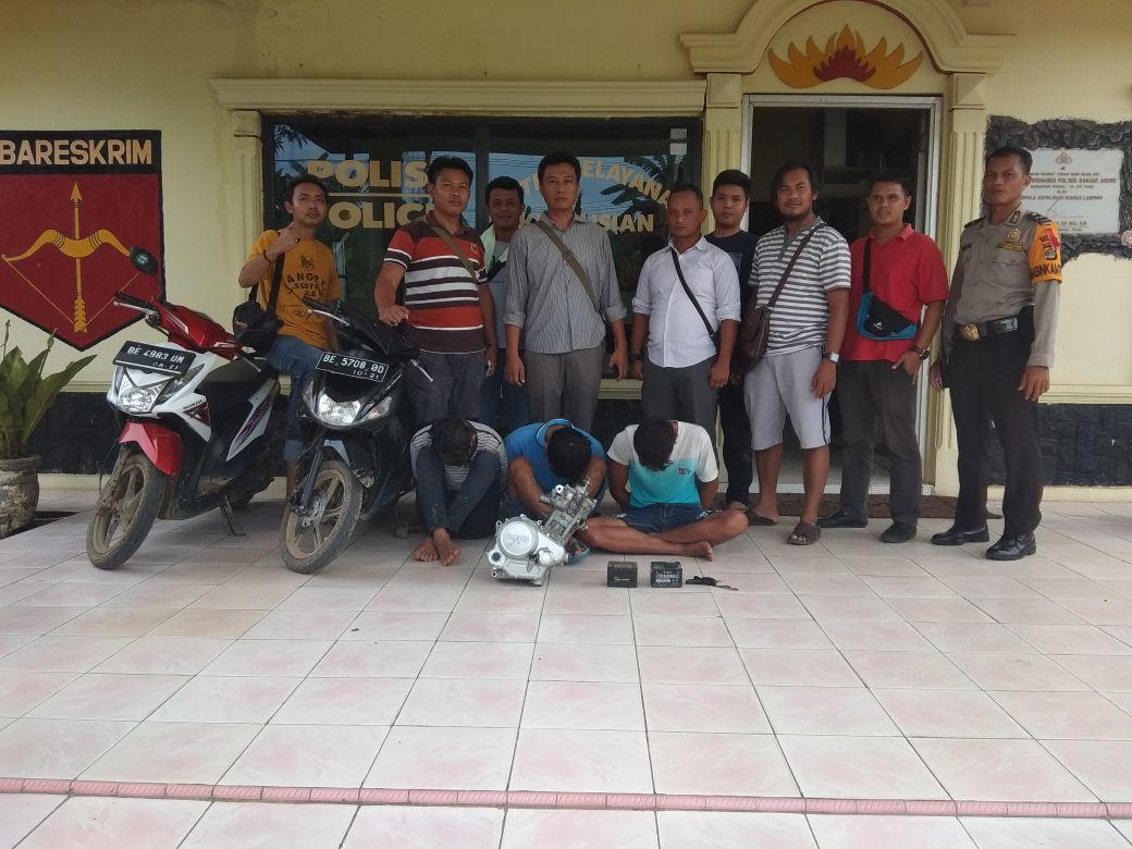 LAMPUNG POST | Kawanan Pencuri di SMK Makartitama Dibekuk Jajaran Kepolisian Banjaragung