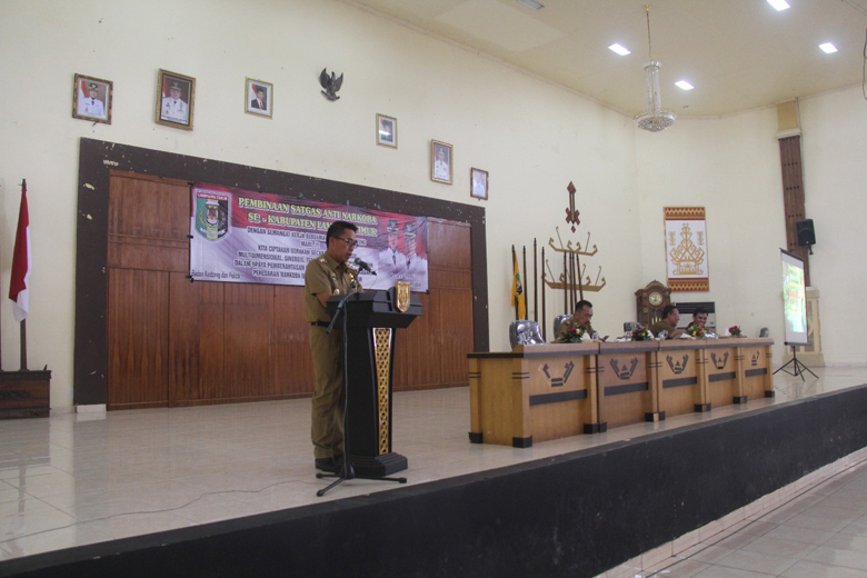 LAMPUNG POST | Wabup Zaiful Buka Pelatihan Satgas Anti Narkoba