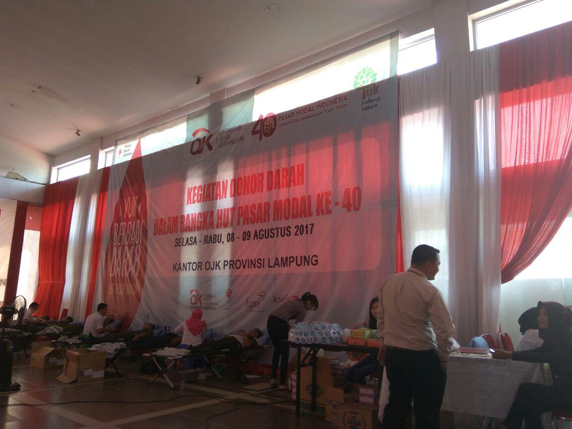 Pasar Modal Ajak Masyarakat Donor Darah