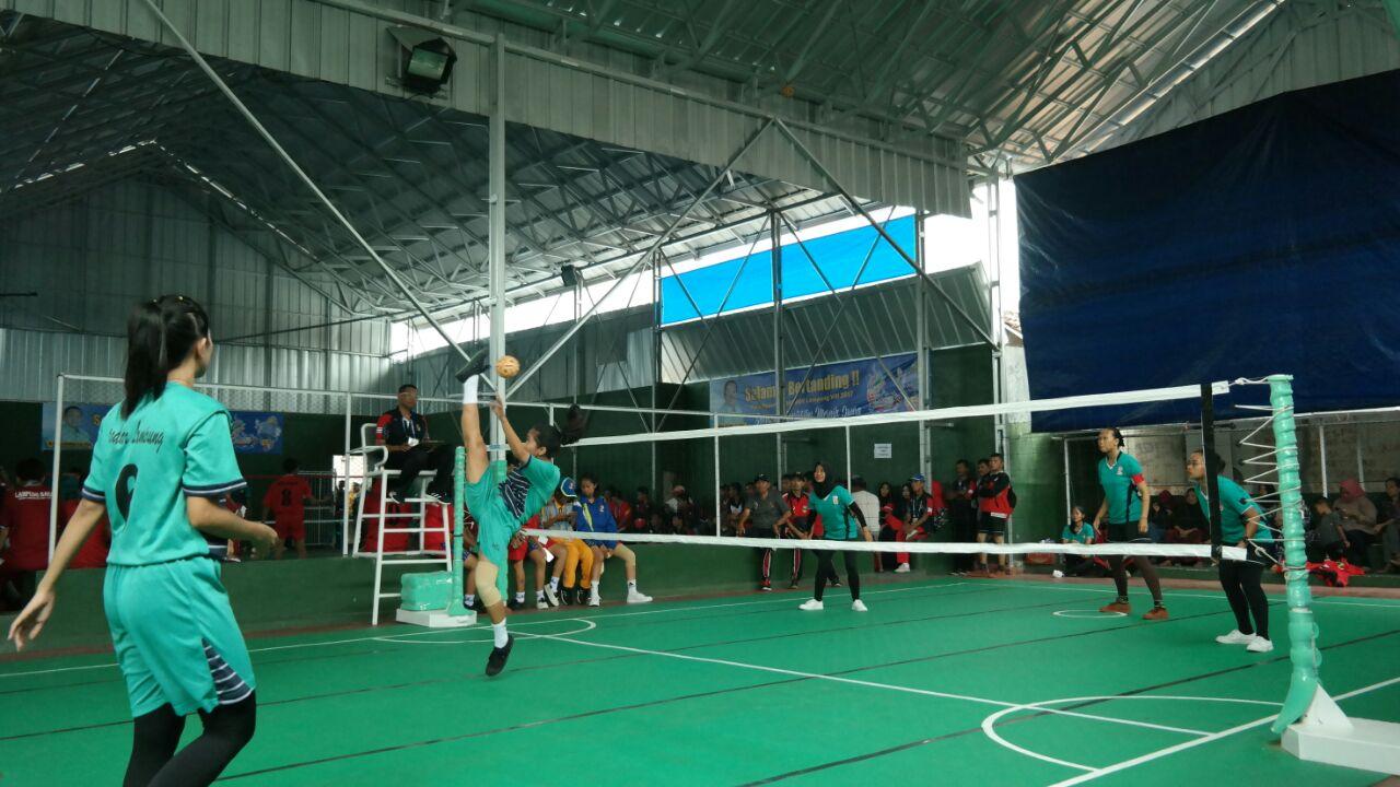 Sepak Takraw Bandar Lampung Bakal Lolos ke Semifinal