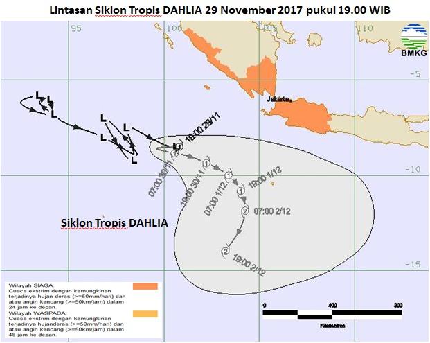 BMKG : Wilayah Lampung Potensi Hujan dan Angin Kencang
