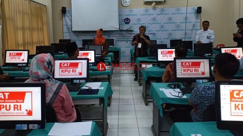 6 Orang Calon Anggota KPU Lampung Lulus CAT
