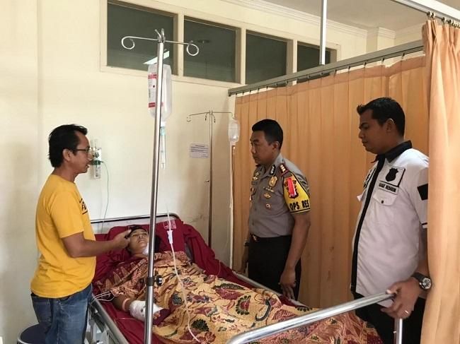 Kapolres Lampung Selatan Besuk Korban Pembegalan