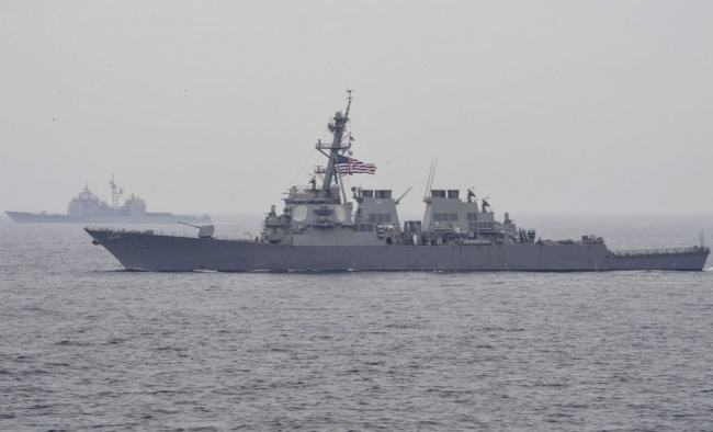 LAMPUNG POST | 7 Orang Hilang dalam Insiden Tabrakan Kapal Perang AS dengan Kapal Dagang