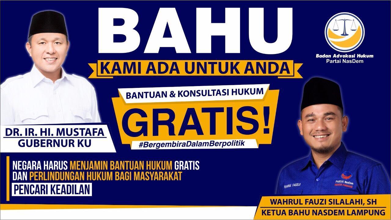 NasDem Lampung Buka Layanan Bantuan Hukum Gratis