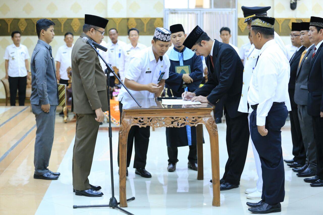 Wakil Bupati Eriawan Lantik Pejabat  Empat OPD Pesawaran