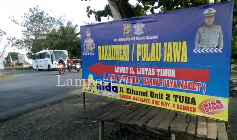 LAMPUNG POST | Pemudik dari Palembang Tujuan Pulau Jawa Diimbau Lewat Jalintim
