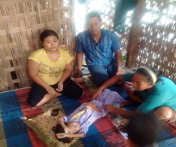 LAMPUNG POST |  Balita Pengidap Tumor Asal Tulangbawang Barat Harapkan Bantuan Dermawan