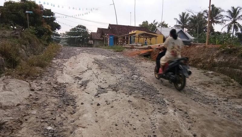 LAMPUNG POST | Warga Tanjungsari Keluhkan Jalan Desa