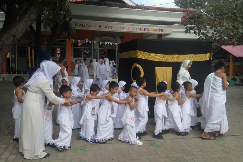 LAMPUNG POST | 116 Siswa KB & TK Ar Raudah Bandar Lampung Peragakan Manasik Haji