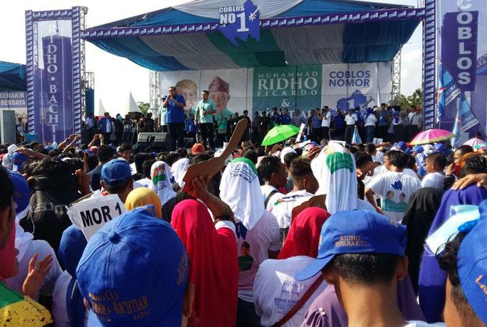 SBY Hadiri Kampanye Akbar Ridho-Bachtiar di Metro