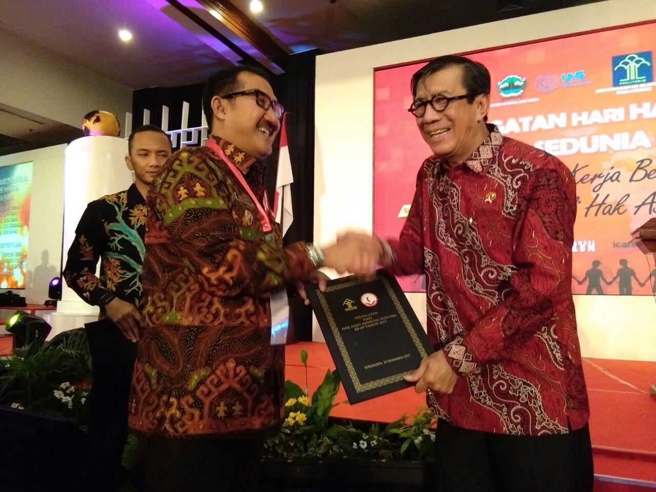 Peduli HAM, Kabupaten Tulangbawang Terima Penghargaan Kemenkumham