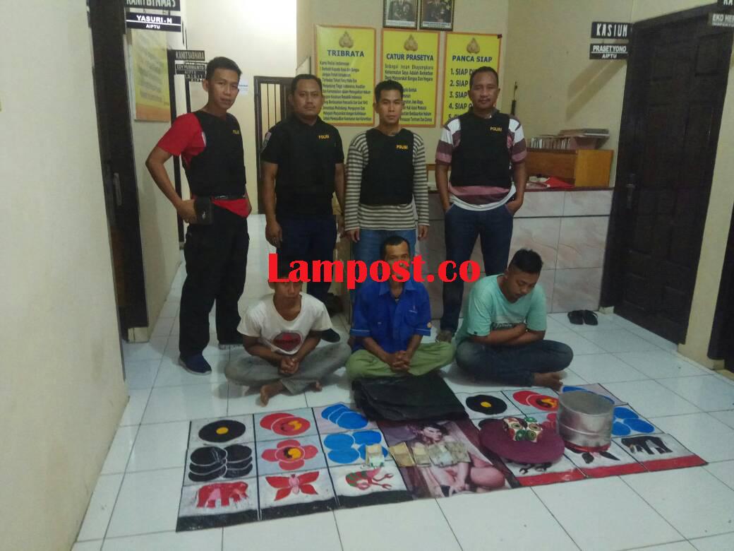 LAMPUNG POST   Tiga Penjudi Koprok Terjaring Operasi Cempaka Krakatau