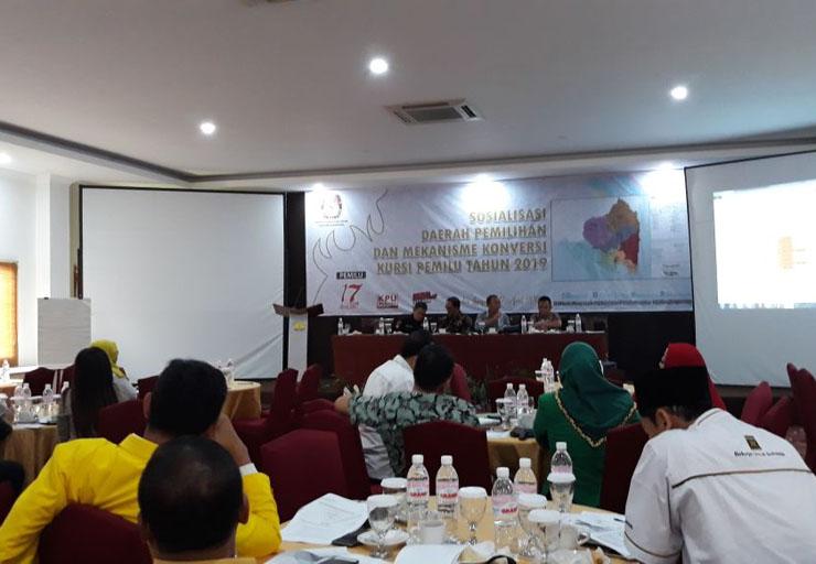 LAMPUNG POST   KPU Lampung Sosialisasi Metode Konversi Kursi Pemilu