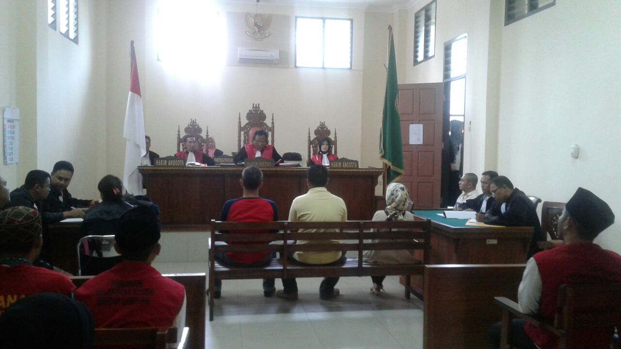 LAMPUNG POST | Hakim Pemakai Sabu Jalani Persidangan