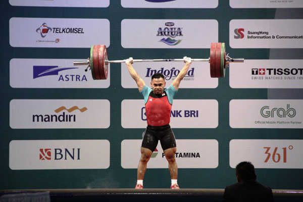 Test Event Asian Games, Indonesia Sapu Bersih Emas Angkat Besi