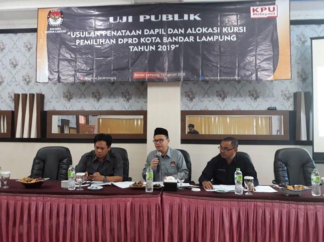 LAMPUNG POST | KPU Kota Uji Publik Penataan Dapil